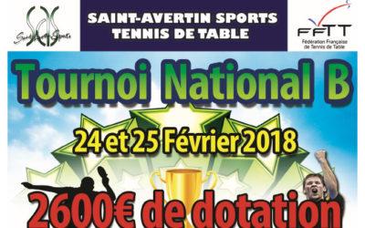Le Tournoi National B de Saint Avertin