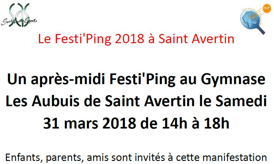 Le Festi'Ping 2018 à Saint Avertin