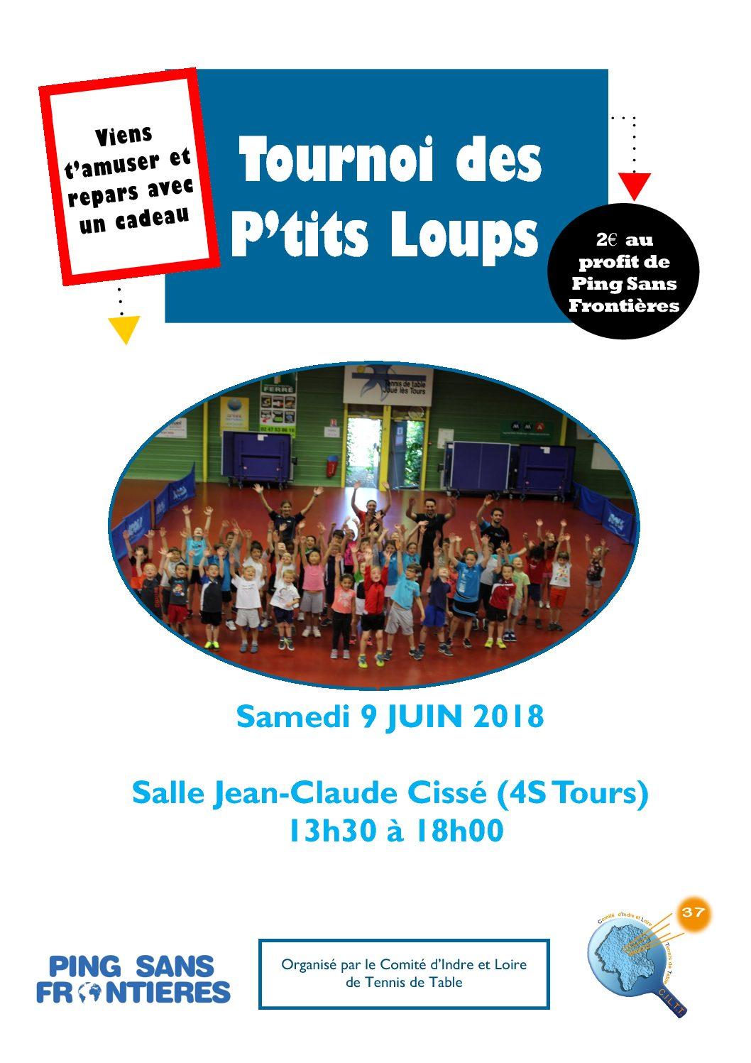 Tournoi des P'tits Loups – Samedi 9 Juin 2018