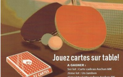 Un tournoi de belote à Chambray-Lès-Tours
