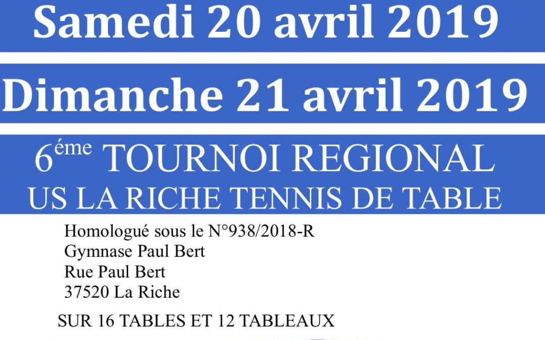Le Tournoi régional de La Riche