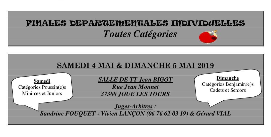 Titres individuels départementaux à Joué-lès-Tours