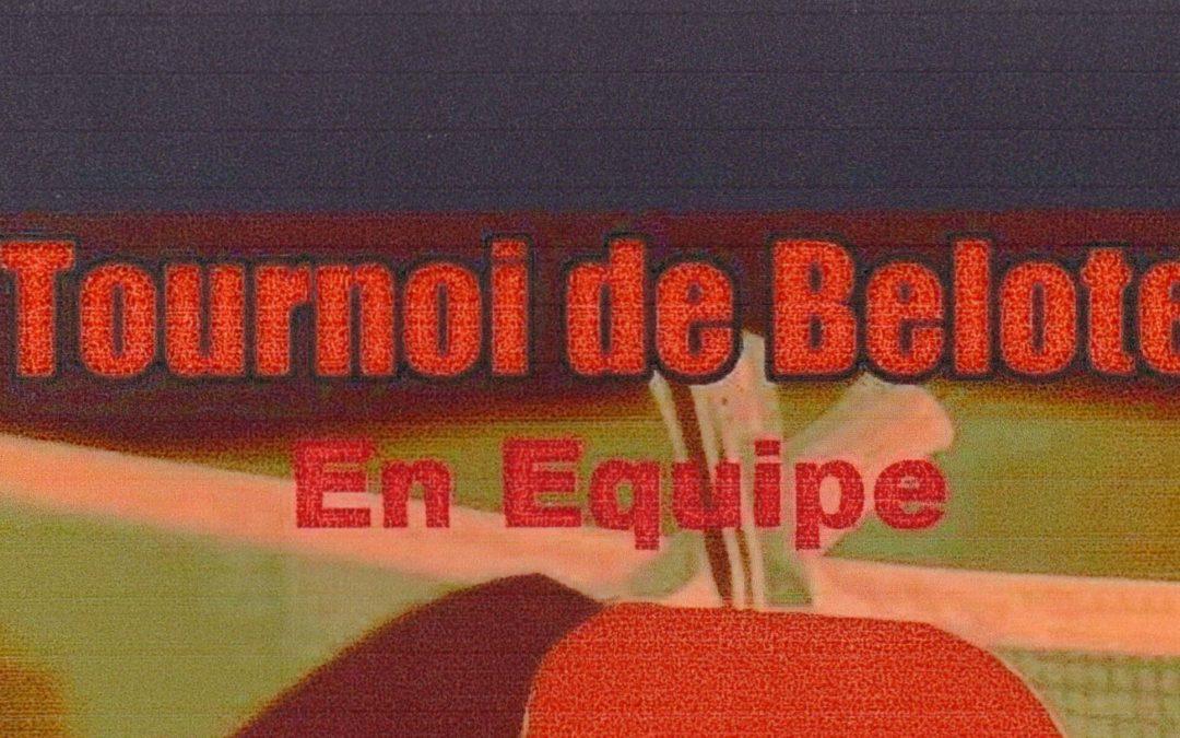 Tournoi de belote par équipe à Chambray-Lès-Tours
