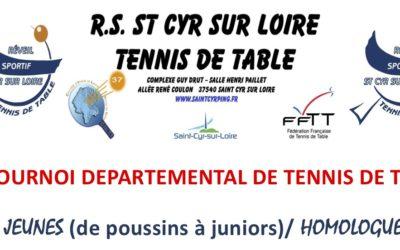Tournoi départemental «jeunes» à Saint Cyr sur Loire