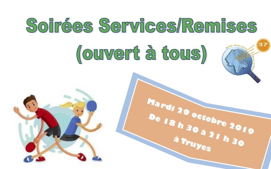 Soirées «Service/Remise» pour tous