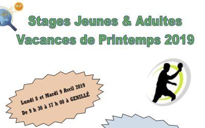 Stages Jeunes et Adultes de la Toussaint