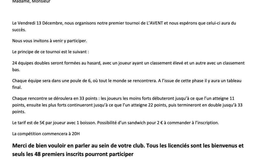 Un tournoi de l'Avent à Château-Renault
