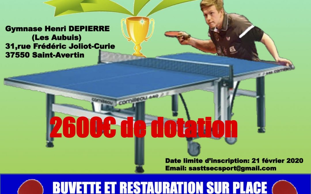 Tournoi National B à Saint Avertin