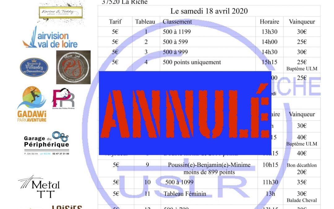 Tournoi régional à La Riche