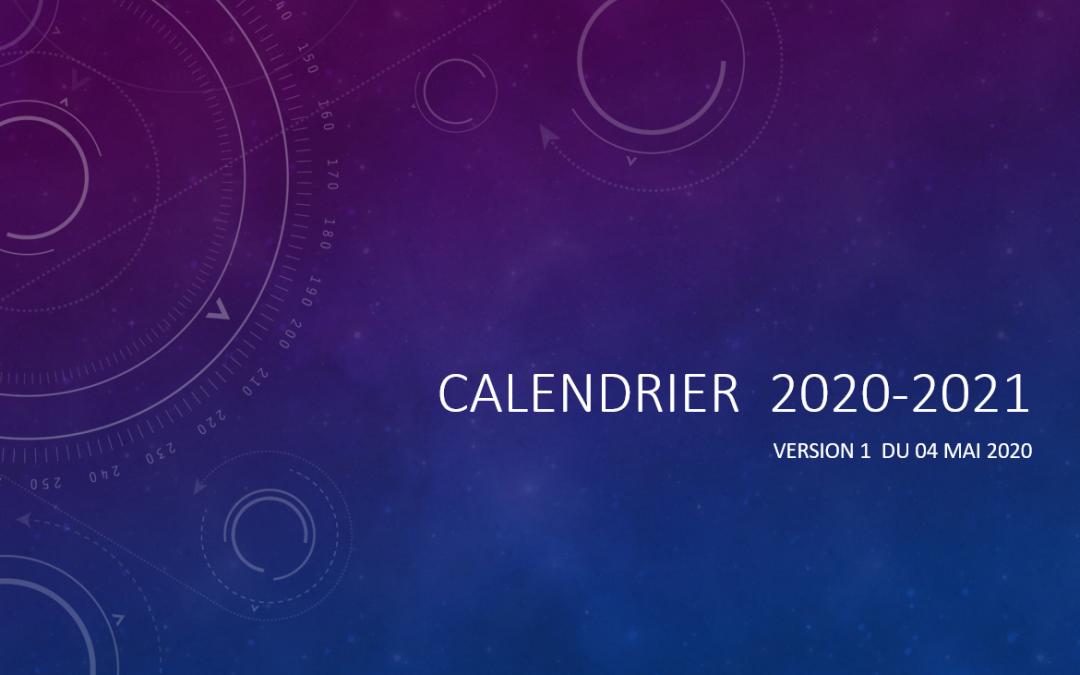 Calendrier sportif 2020-2021 Version 1