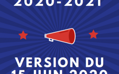 Calendrier sportif 2020-2021 Version 2 au 15 Juin 2020