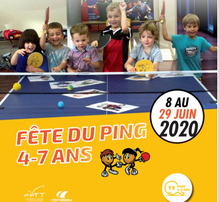 Fête du ping 4-7 ans 2020