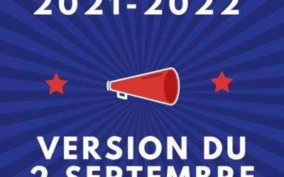 Le Calendrier sportif 2021-2022 MAJ 02.09.21
