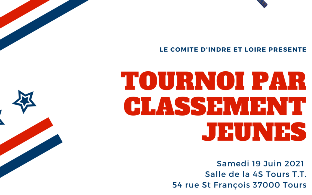 Tournoi Jeunes par classement – Samedi 19 Juin 2021