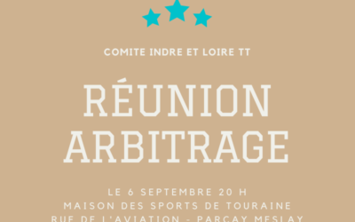Réunion Arbitrage – Lundi 6 Septembre 2021