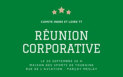 Réunion Corporative – Lundi 20 Septembre 2021 – Annulée